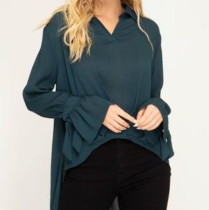 BRAND NEW She and Sky Teal Top